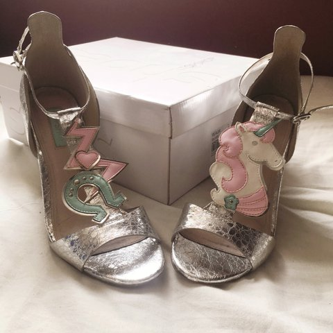 a4ea58cae38 Topshop realm unicorn sandals ✨some of my favourite shoes a - Depop