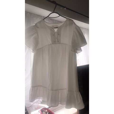 2619e53f4d White Zara dress brought off here but it doesn't suit me. a - Depop