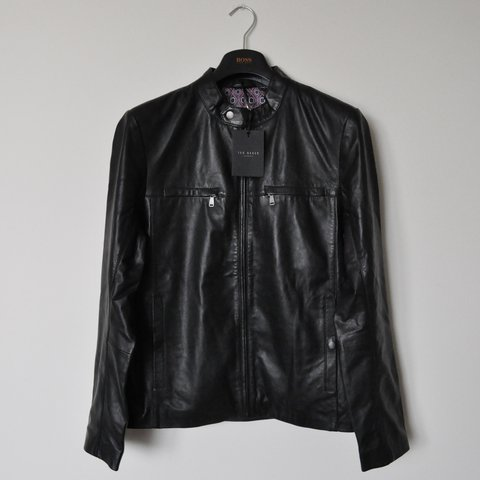 0469065b555567 ... BRAND NEW Ted Baker London Men s Pablo Leather Jacket L - Depop good  selling 5366c ...