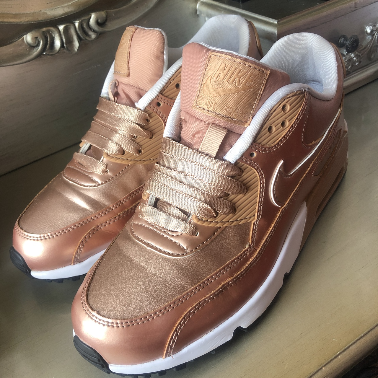 Nike Air Max Rose Gold 5.5 trainers shoes running Depop