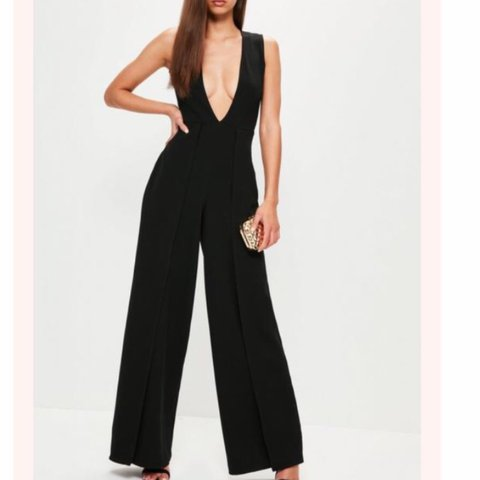 ed02d76fc3f7 Missguided wide leg origami layered jumpsuit never worn new - Depop