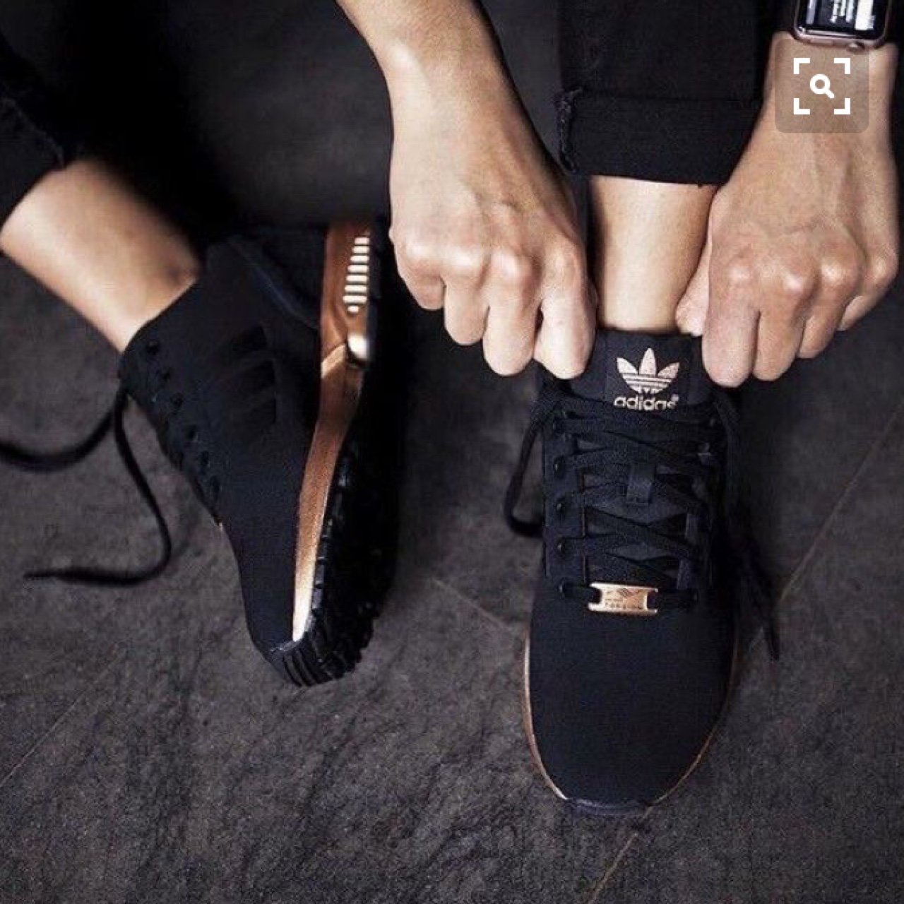 best loved fab45 c15e7 adidas originals zx flux black and copper gold rose womens girls bronze