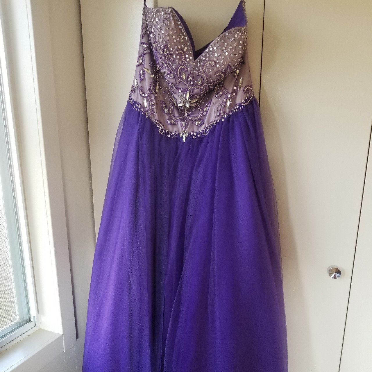 1e2db74ef1 Size 14 Layla K prom ball gown dress. Color is purple
