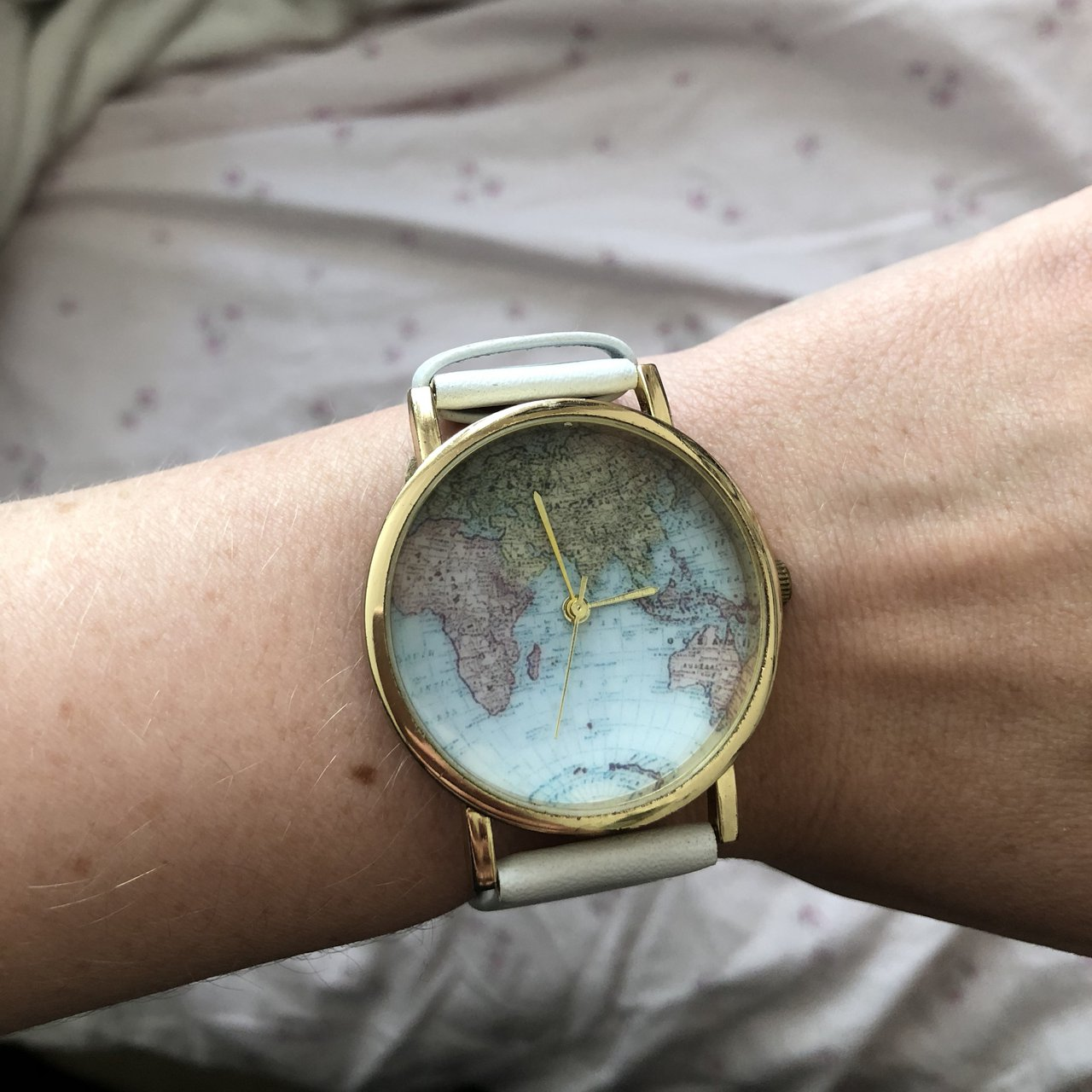 Urban Outfitters World Map Watch.World Map Watch From Urban Outfitters Worn A Few Times But Depop