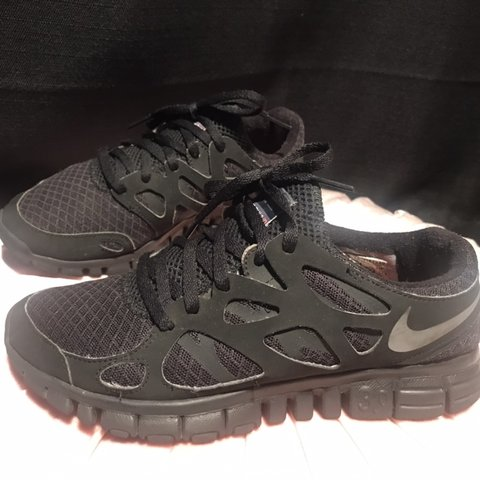 ef9aa07d85e Nike Free Run 2 i.d. In All black • U.S Women s size 5 • - Depop