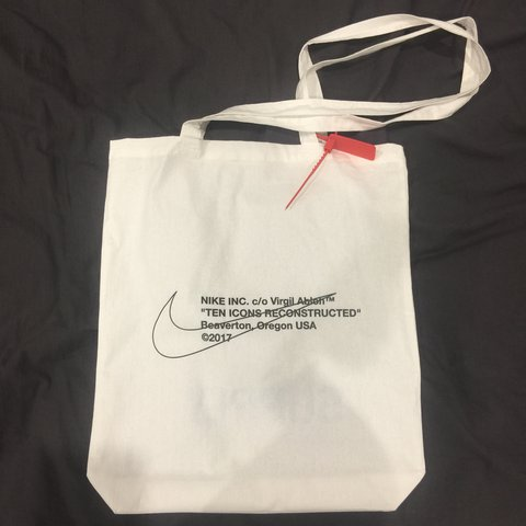 f75853975f15 Nike x off white x supply store tote bag. This bag came with - Depop