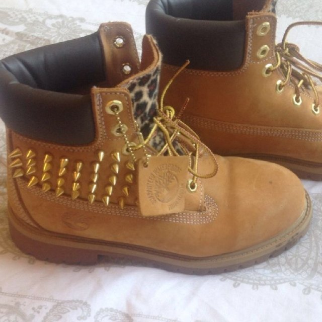 53e4e231a208 Spiked timberlands. Can be done on any shoes boots trainers. - Depop
