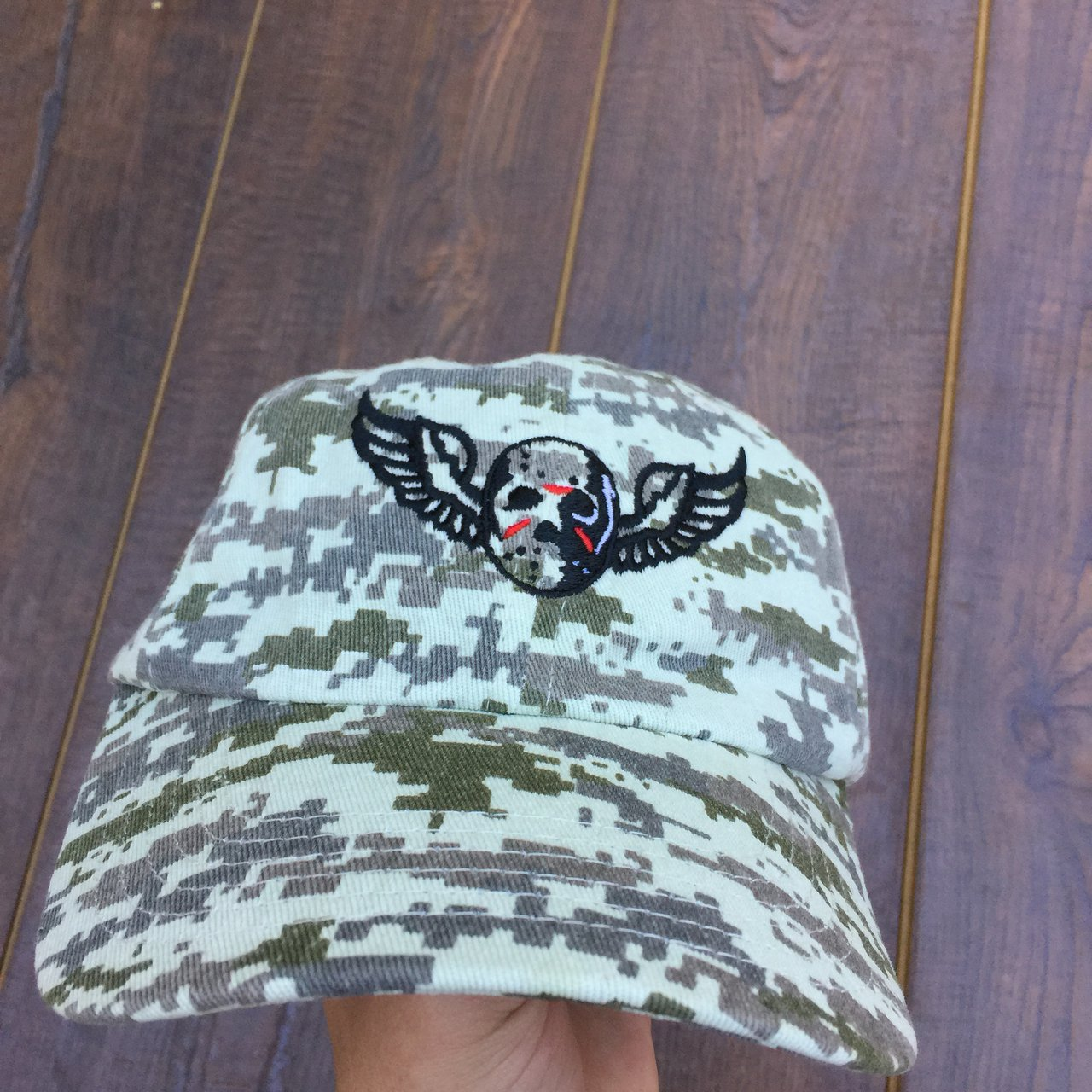 Jason Voorhees dad hat Digital Camo One size fits all No - Depop b3a17479e6a