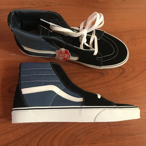 e1e80c0b31 Vans Sk8-hi core classics shoes in Navy with black accents. - Depop