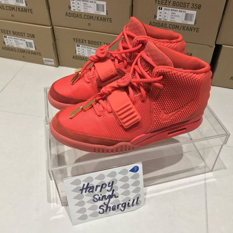 29f493215ee9f low price nike air yeezy 2 sp red october size uk 9 us 10 9.99 10