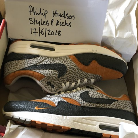 """newest 6f7f5 8aa23 DS UK9.5 (SOLD) UK10 (AVAILABLE) Size x Nike Air Max 1 """"What - Depop"""