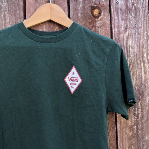 40f70ee816 Vans forest green Cali bear tee. Sized at a boy s medium