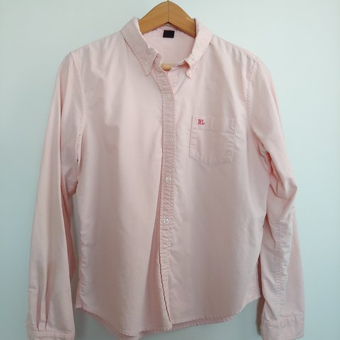 c0acc8c8a Ralph Lauren pastel pink 100% cotton button down shirt. as - Depop