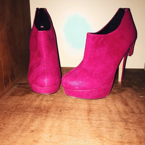 3b10b3a6c822 Only £10! Sexy hot pink stiletto heels size 6 from primark - Depop