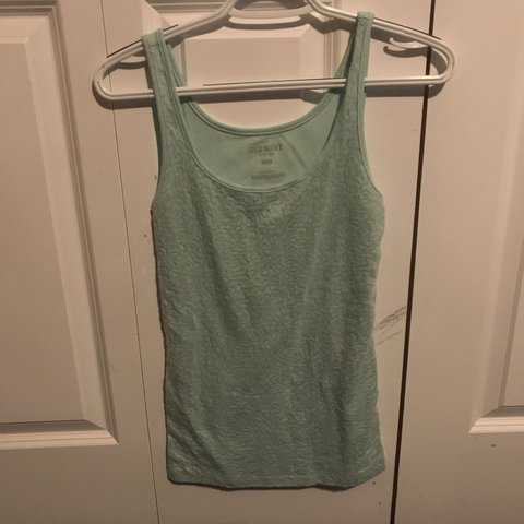 c86bf01392a53 Old Navy teal sequin tank top. Size medium. Worn once. Smoke - Depop