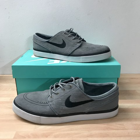 125b606c8d65 Nike SB Zoom Stefan Janoski PR SE Cool Grey Black UK 9 US a - Depop