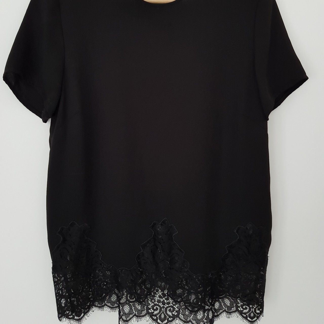c436ad73a8a Fancy black top with lace from New Look Plain... - Depop
