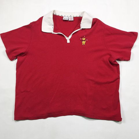 66f5446b @skyethrift. 2 years ago. Wilson, United States. VINTAGE Disney's Winnie  The Pooh red polo t shirt 🎈 super ...