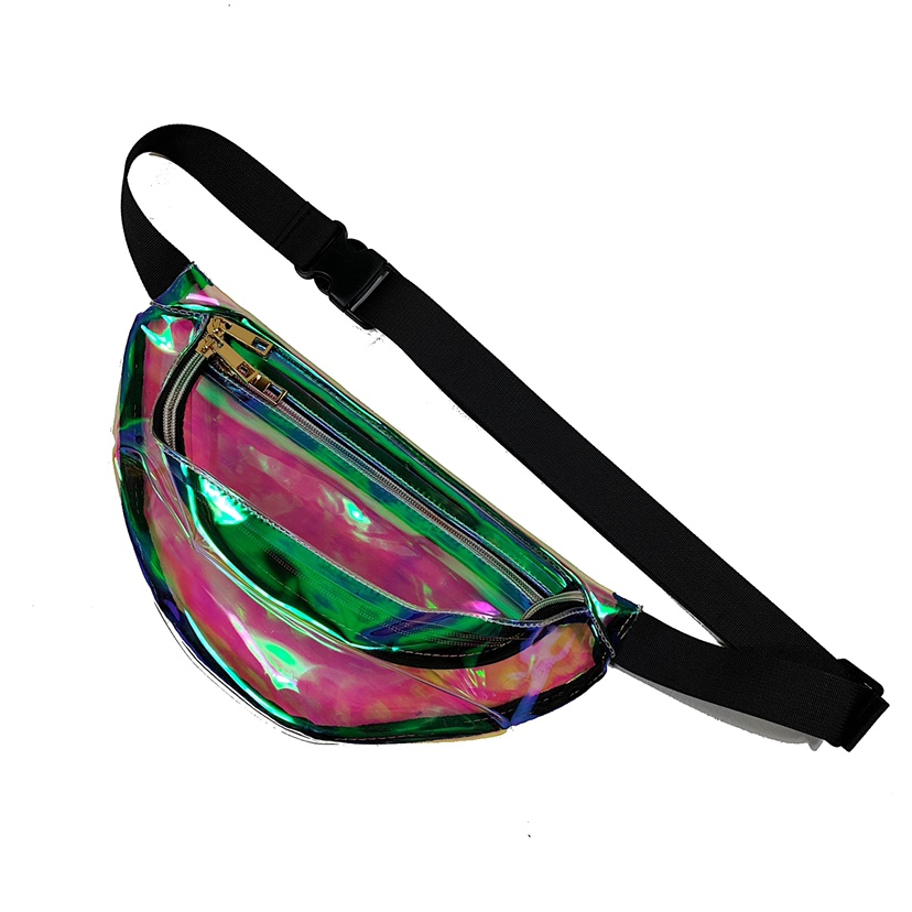ae349c8c16a3 Futuristic Holographic clear fanny pack / adjustable... - Depop