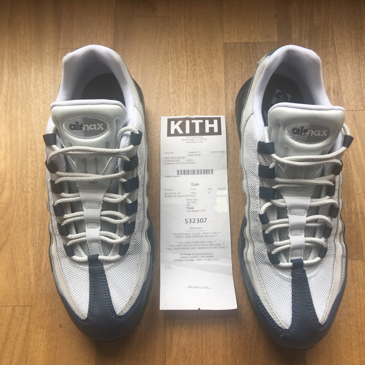 Nike Air Max 95, Navy/White/Grey,special color... - Depop