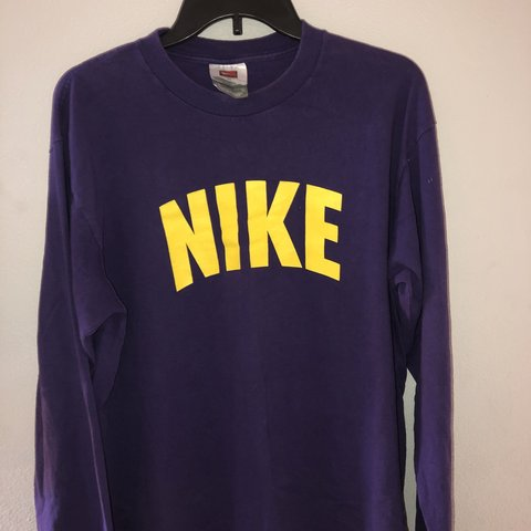 0b9254d7897b vintage Nike purple and yellow long sleeve