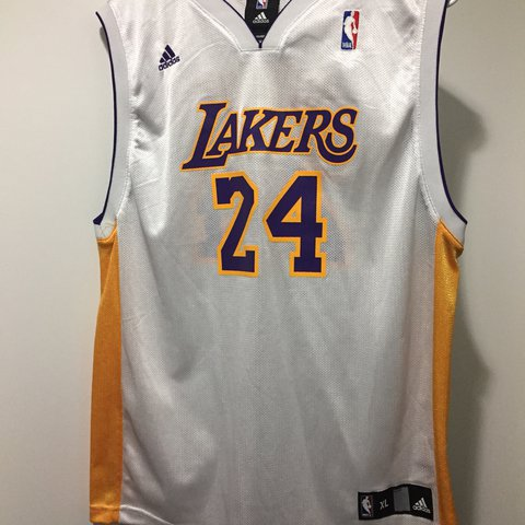 fee6793e1c0 Kobe Bryant lakers jersey. Boys xl fits like a men s small - Depop