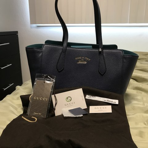 1d79dce59a2f @betryn12. last year. Pacifica, United States. Authentic Gucci Small Swing  Tote ...