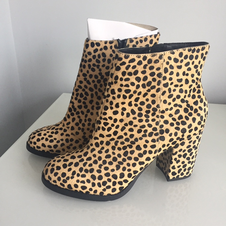 leopard print boots office