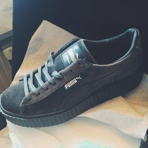 ... quite nice fed7f 6feef BRAND NEW Puma X Fenty velvet creepers in grey  size 6 from ... 122a4e6720