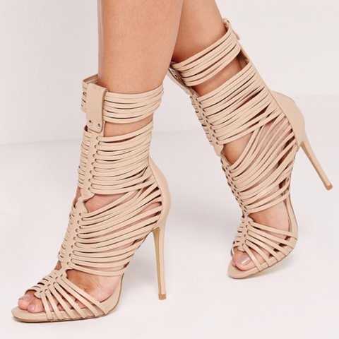 91a40996226e 💕💕 Missguided ultra strappy gladiator sandals