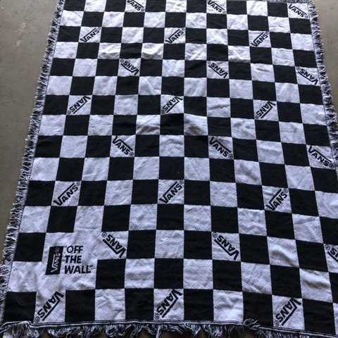 55ddc2dc86 Vans Off The Wall Checkerboard Throw Blanket. Used in good - Depop