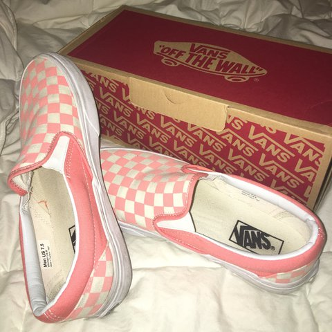 7ef8b643aed450 ON HOLD DO NOT BUY pink checkered vans!!! sooo cute! only a - Depop