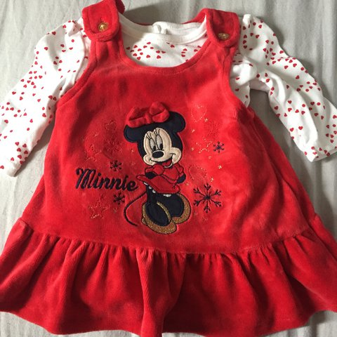 Minnie Mouse Christmas Dress.Listed On Depop By Missdlawless