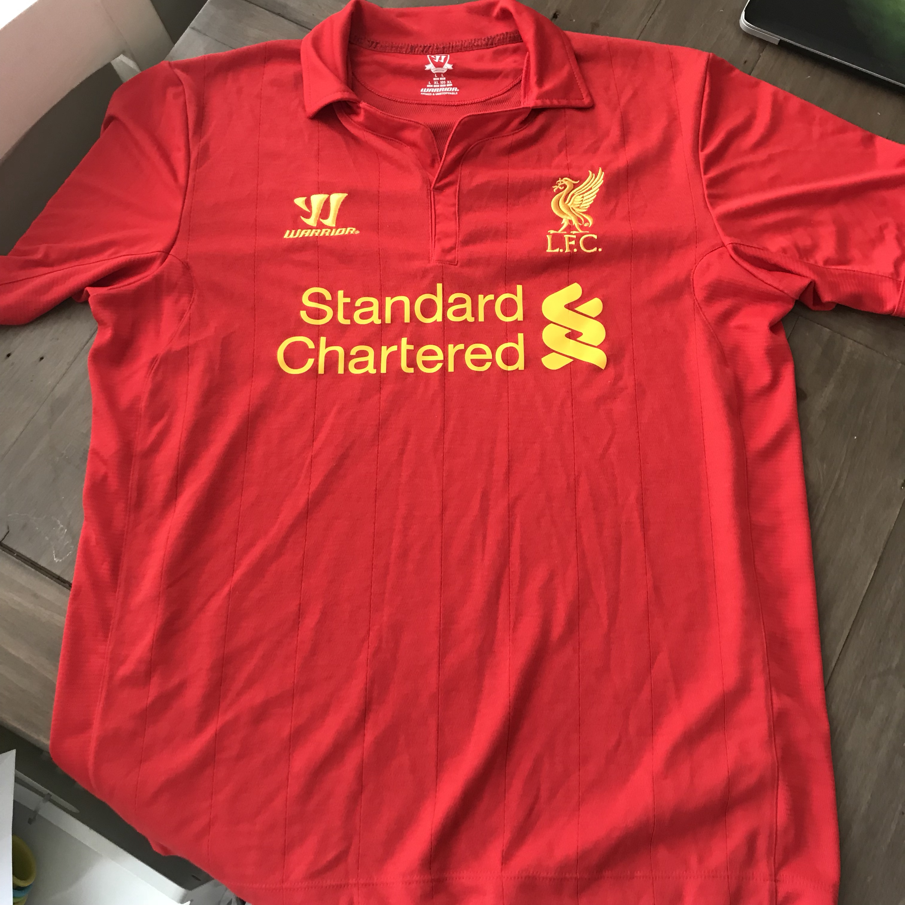 detailed look c524e 27b56 Men's Liverpool Shirts / T-Shirt Home and Away Size... - Depop