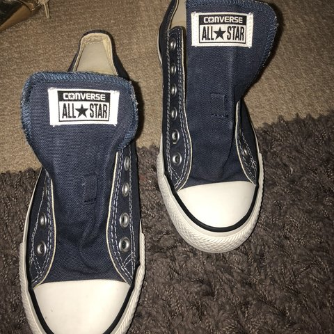 db0f493df524 Selling these navy converse they are basically immaculate 5 - Depop