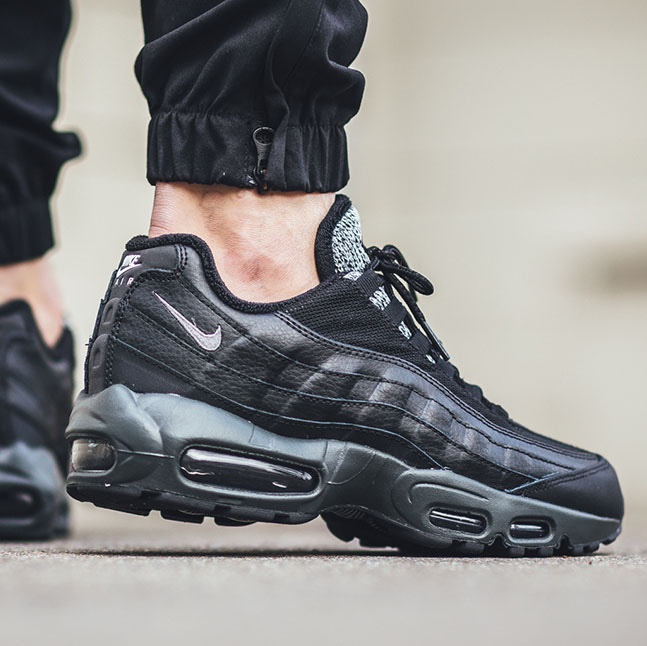 Nike Air Max 95 Essential Black Grey Woven. Size UK Depop