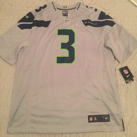 96b0fc90da3 @youthofnewc. 2 years ago. Leeds, UK. Brand new authentic Seattle Seahawks  Russel Wilson jersey. Nike NFL jersey size XL ...
