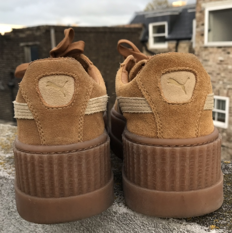 cheap for discount f987b 9bdc5 FENTY PUMA tan cleated creeper suede women's. In... - Depop