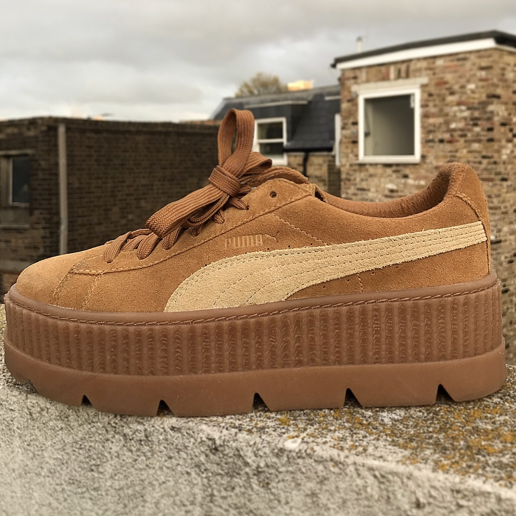 cheap for discount 5293a 03649 FENTY PUMA tan cleated creeper suede women's. In... - Depop