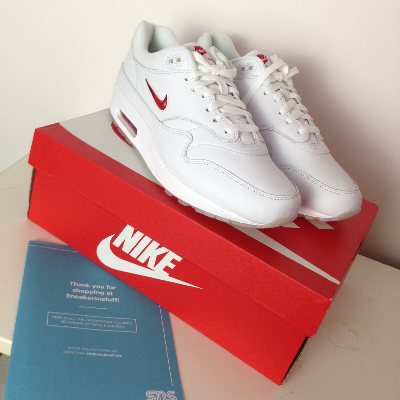 Nike Air Max 1 Jewel Red Ruby brand new with box