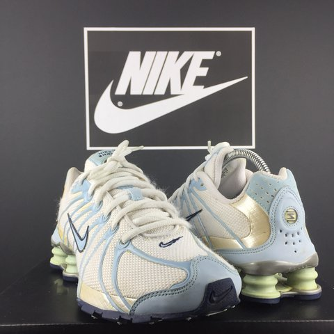 9e8ecb75bd1 Rare 2005 Nike Air Shox Size 5 UK In amazing nic for age   - Depop