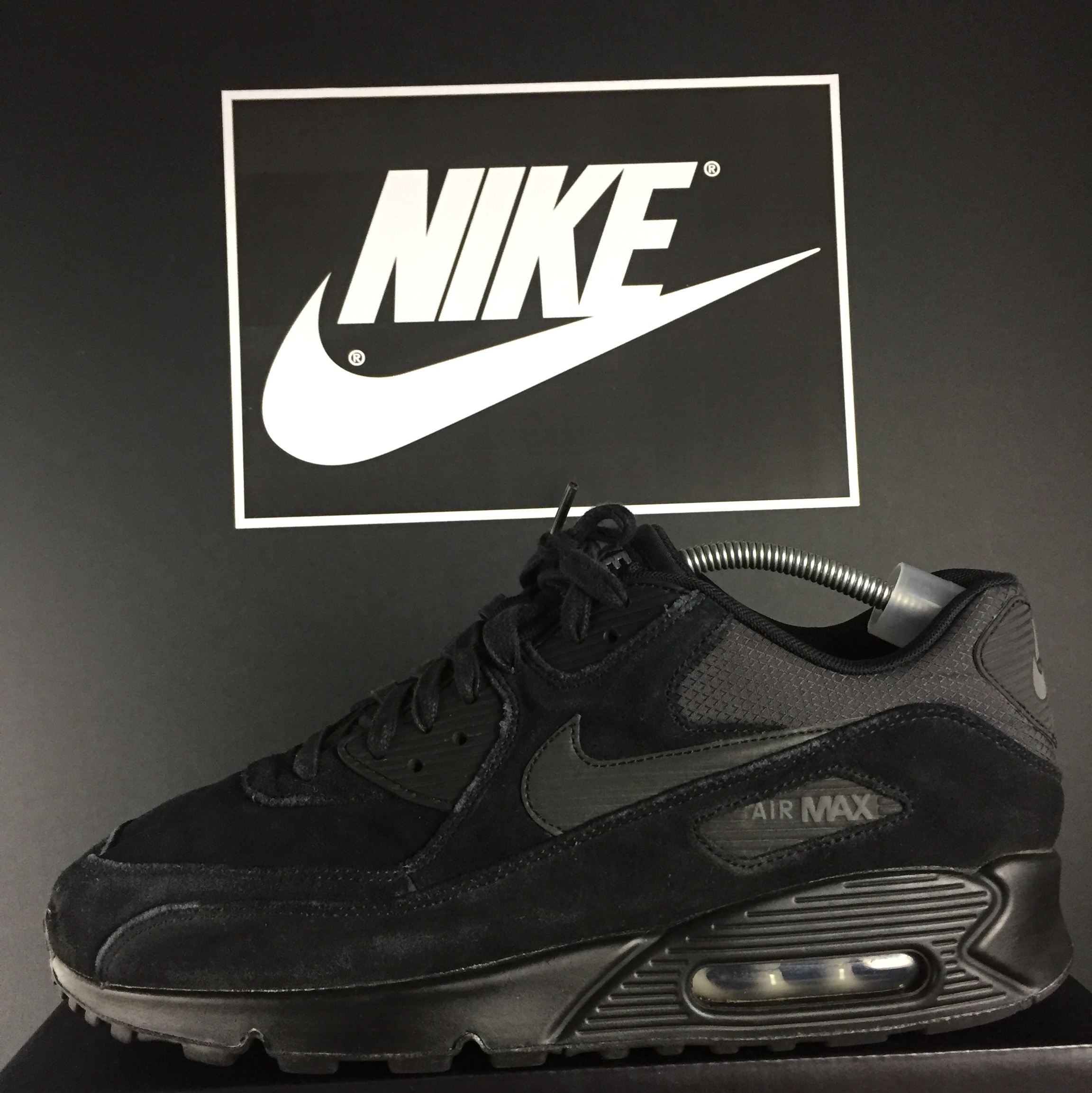 Freshh Nike Air Max 90 Essential Triple black Depop
