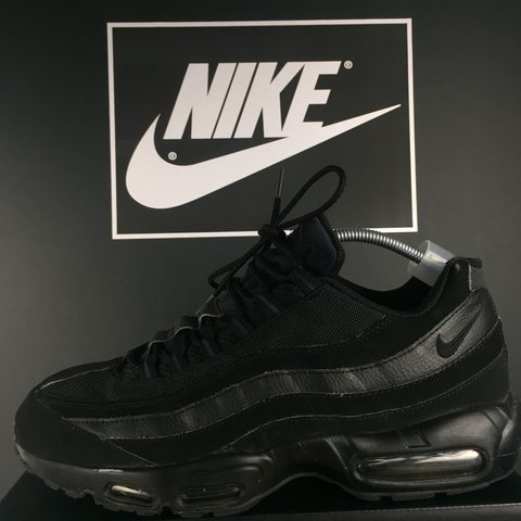 1a5a4deb9cd31b Nike Air Max 95 Essential Triple black Size 11 U.K. In good - Depop