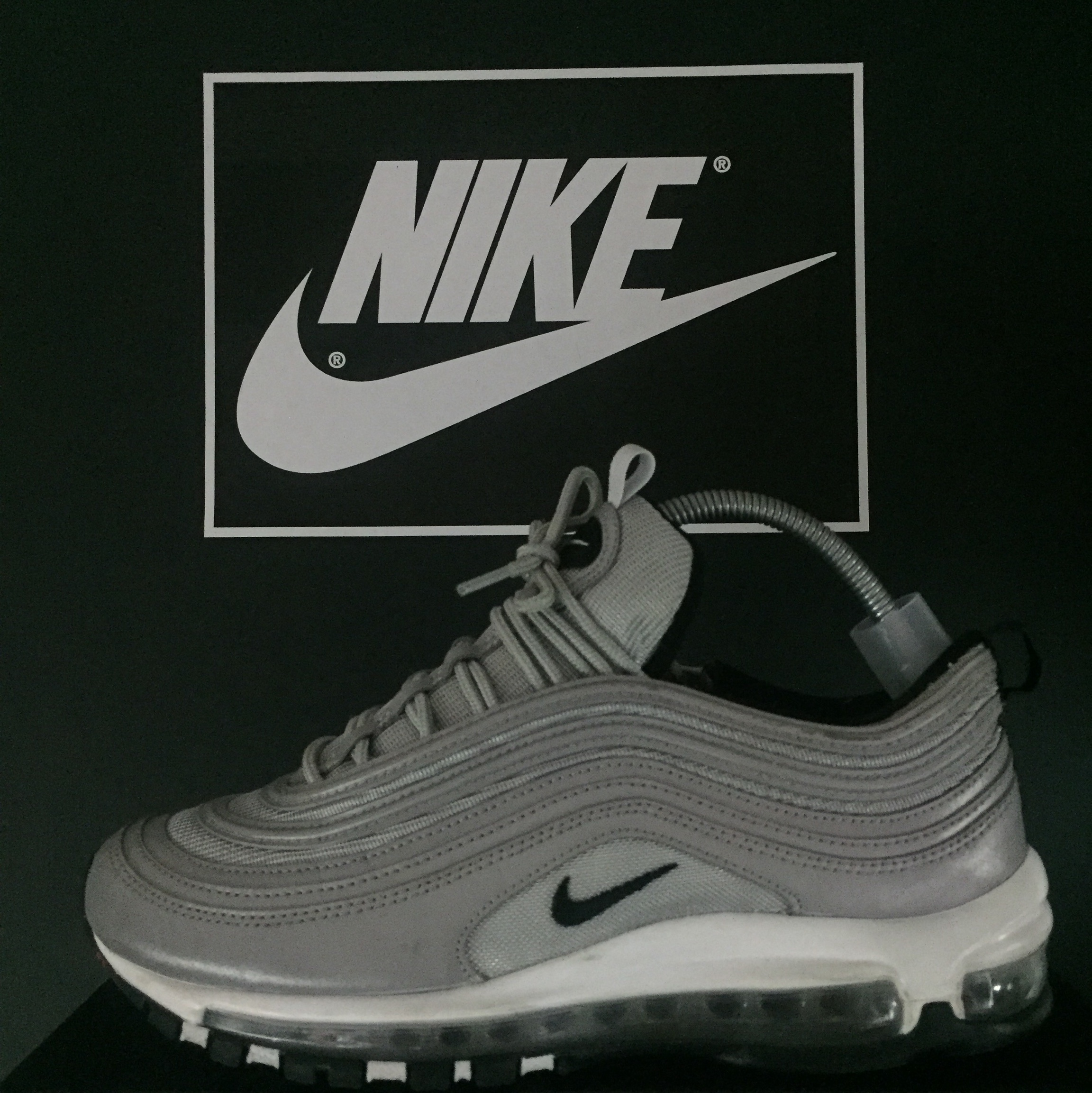 huge selection of c27a5 dd39b Nike Air Max 97 'Reflect Silver' Size 7 fit 7.5 / 8... - Depop