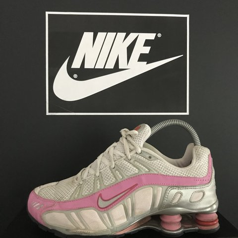 0c12251499a Rare Nike Air Max Shox Size 5 UK In really good nic White   - Depop