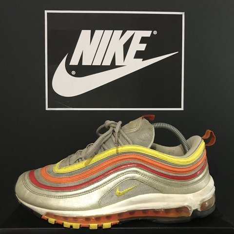 5ac0f7301dc Rare Nike Air Max 97  Rainbow Skittles  Size 9 UK In really - Depop