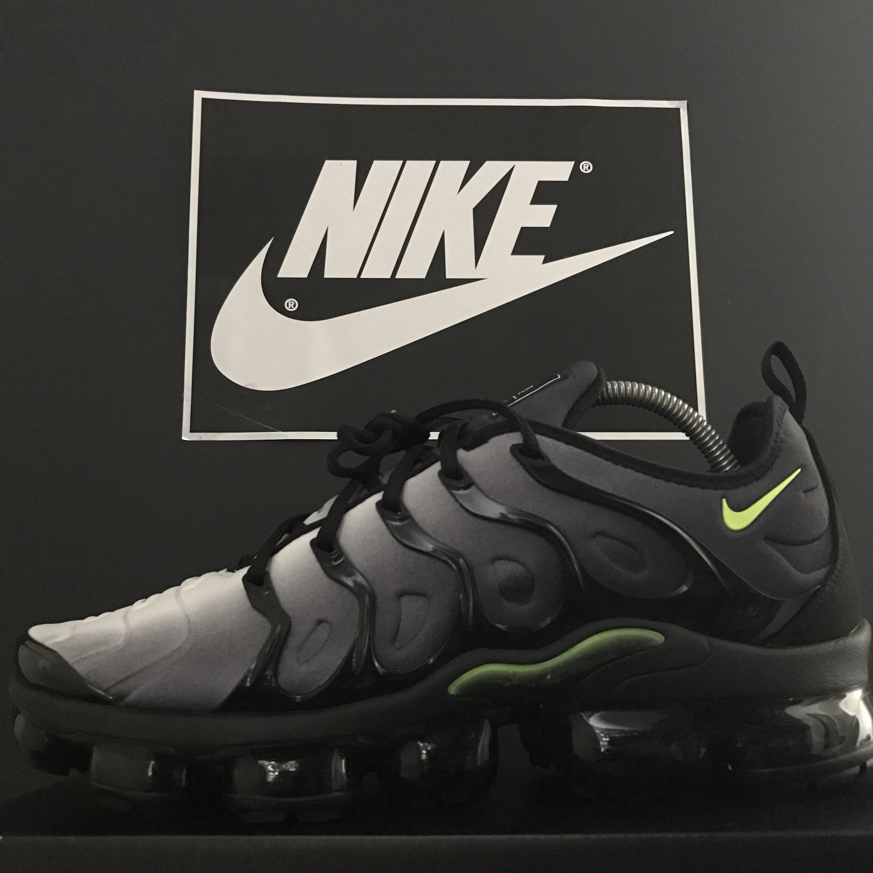 new products 29fc2 210b0 Nike Air Vapormax Plus Size: 10.5 UK Colourway: Grey... - Depop