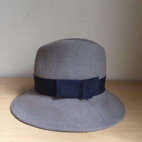 ce01b2c394c83 Women and Men Handmade grey wool felt trilby fedora hat. it - Depop