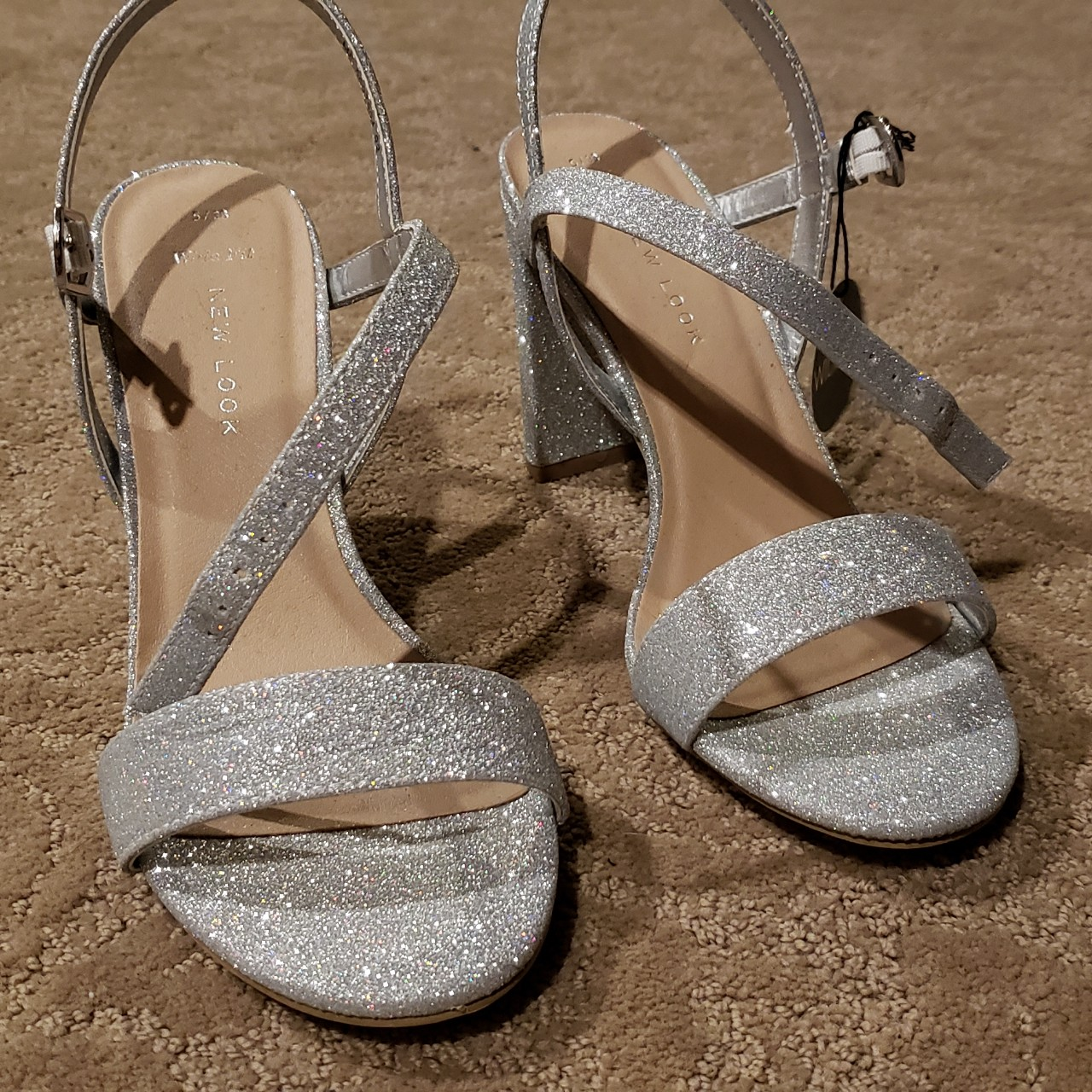 New Look sparkly silver heels¤ Silver