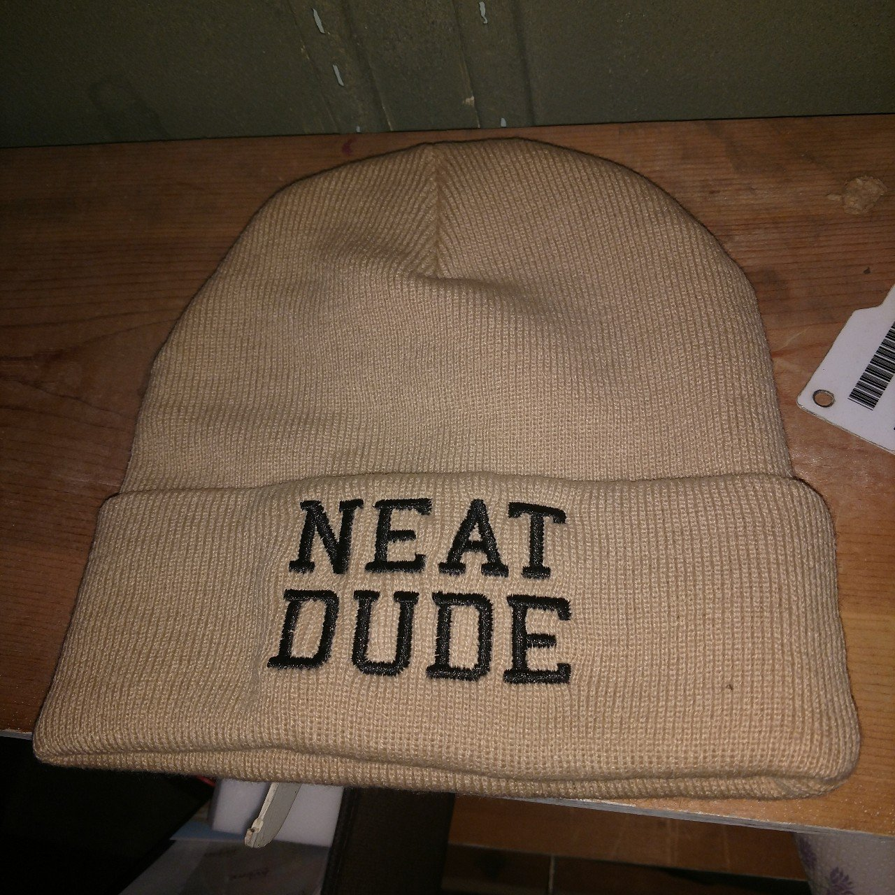 Tan Neat Dude Beanie Brand New Never Worn Purchased As A Depop